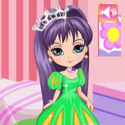 rapunzel gold haired princess hair style game